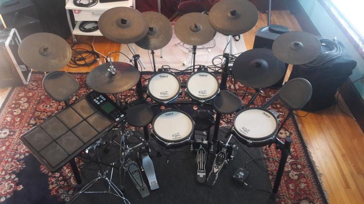 Three Electronic Drum Kits